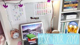 DESK TOUR 2017  - A Level Student 📚