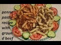 penne pasta recipe with ground beef