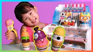 라임이의 아이스크림을 먹으면 춤을 춘다?  뽀로로 장난감 마트 소꿉놀이 LimeTube & Toy 라임튜브