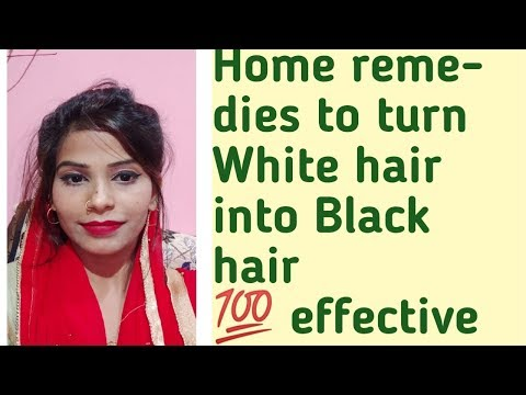 Turn white hair into black hair with these home remedies || 100% Effective Results