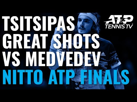Stefanos Tsitsipas Great Shots \u0026 Rallies vs Medvedev | Nitto ATP Finals 2019