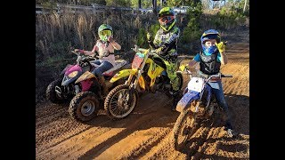 kids on Dirt bikes/Quads Georgia motorsports in the winter!!