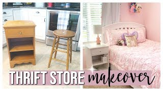 THRIFT STORE FURNITURE MAKEOVER | CHALK PAINTING FURNITURE 2019