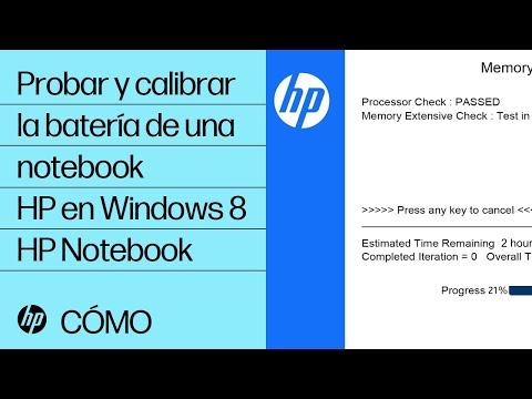 Probar y calibrar la batería de una notebook HP en Windows 8 | HP Notebook | HP