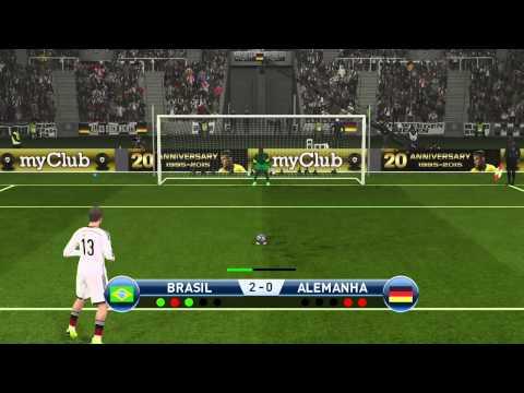Brasil Vs Alemanha Penalty - Pro Evolution Soccer 2016 - PES 2016