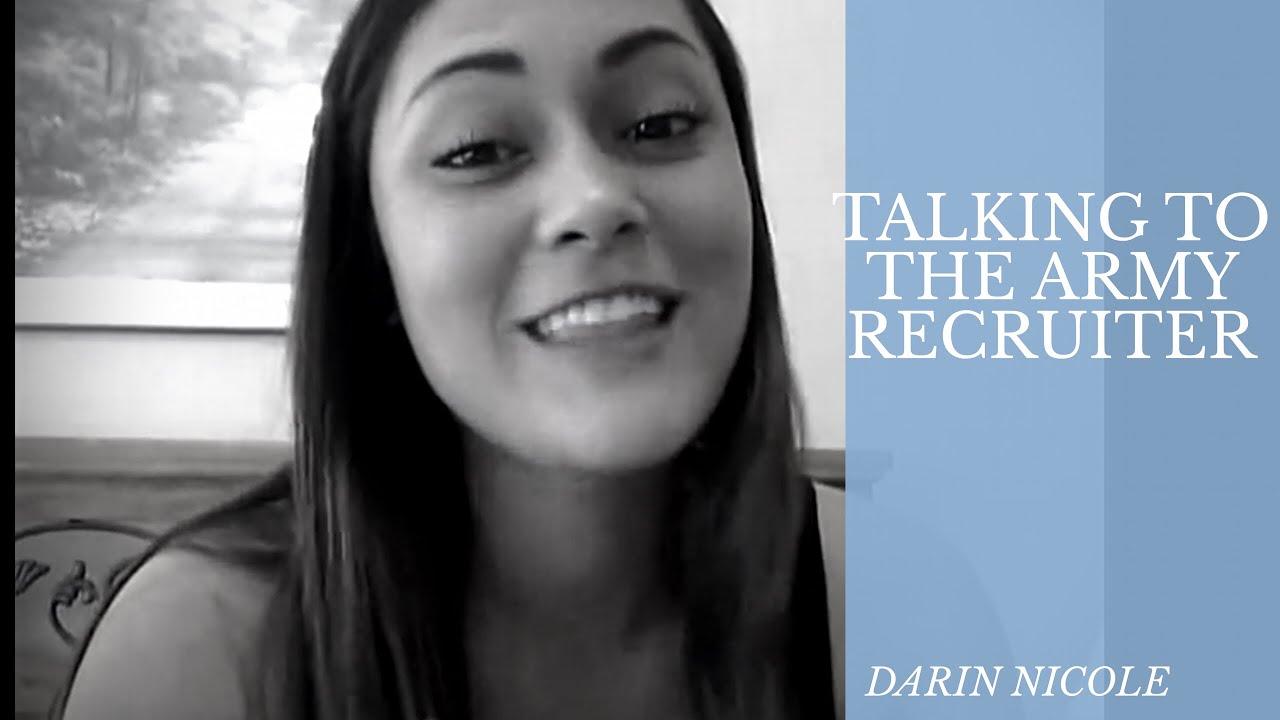 TALKING TO A RECRUITER   DARIN NICOLE
