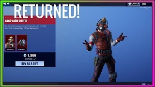 STAR-LORD SKIN RETURNS! (Season 8) Fortnite Item Shop NOW - Fortnite Battle Royale