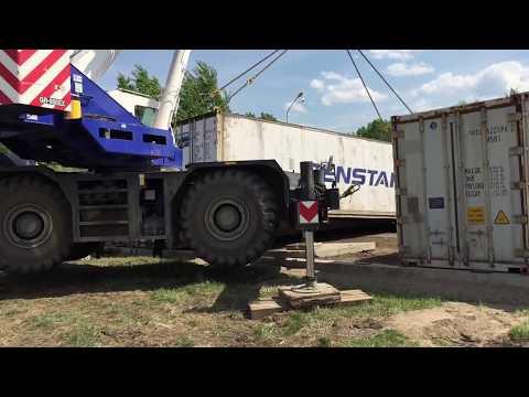 TADANO GR- 800EX. Перенос контейнеров от СПЕЦПАРТНЕР.РФ