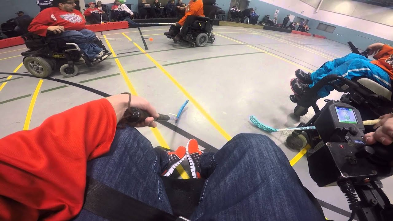 Wheelchair Hockey Teal Banquet Chair Covers Gopro With Scott Haycock Opwhl Youtube