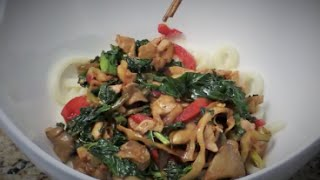 Chinese Pickled Turnips, Pork And Udon Noodles