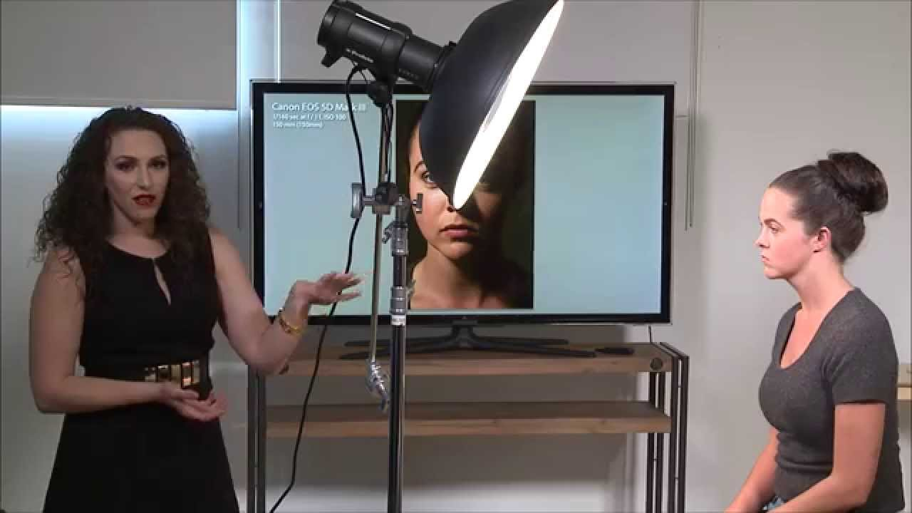 How To Position A Beauty Dish For Portraits Youtube Lighting Diagram Shot