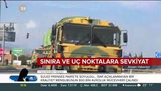 Suriye sınırında askeri hareketlilik devam ediyor. ÖSO'ya 'hazır olun' emri verildi