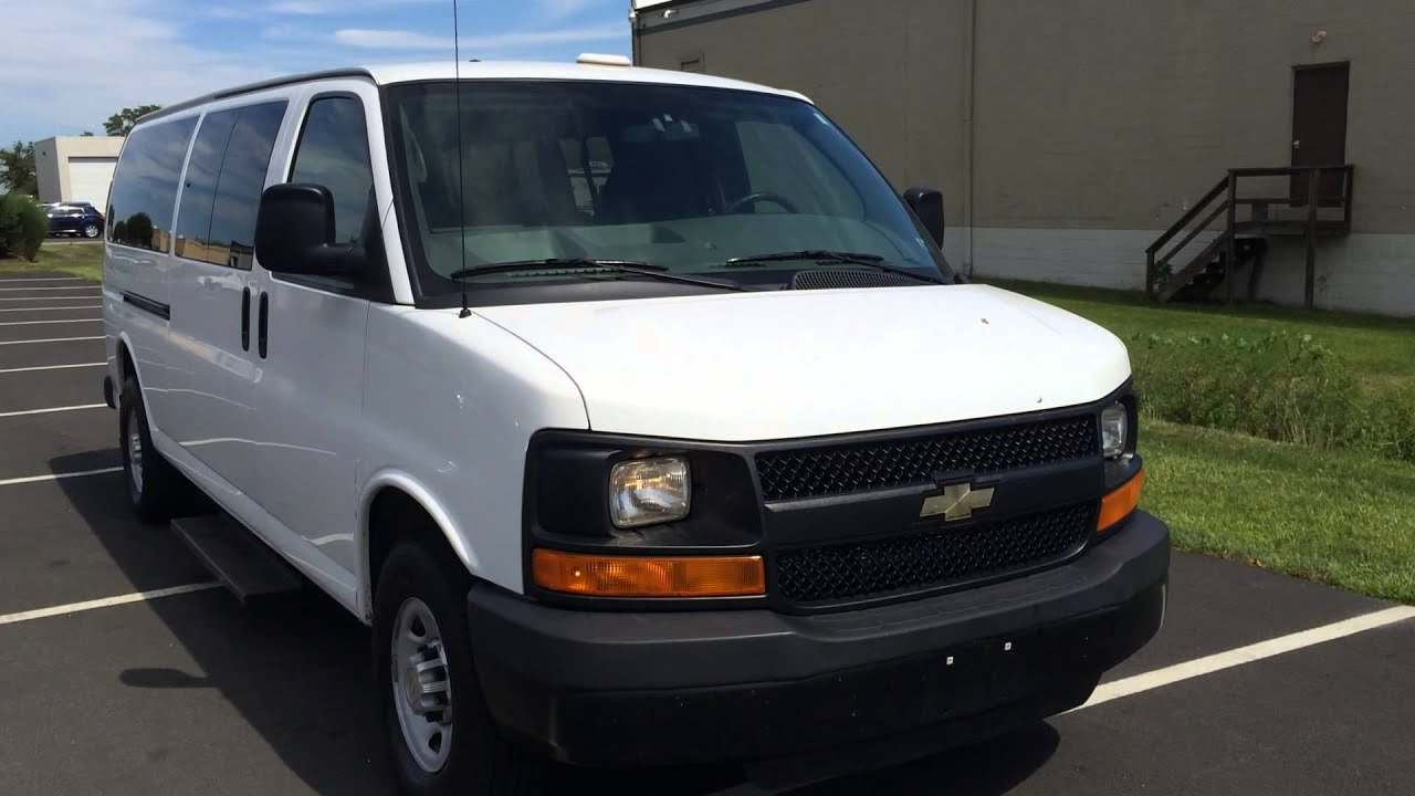 2010 chevrolet 3500 express 15 passenger van for sale