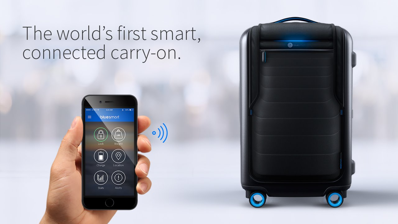 Bluesmart The World S First Smart Connected Carry On Suitcase You