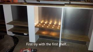 How to build a concealed whisky (or liqour) cabinet. A modern whiskey bar furniture!