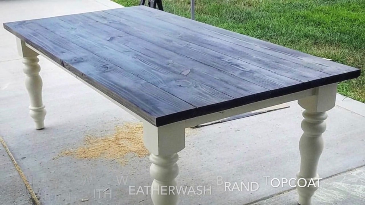perfect gray stained table