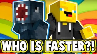 WHO IS FASTER?! - MINECRAFT SPEED RUN! W/AshDubh!