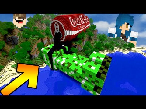 CREEPER BEBENDO COCA-COLA GIGANTE l MINECRAFT LUCKY BLOCK