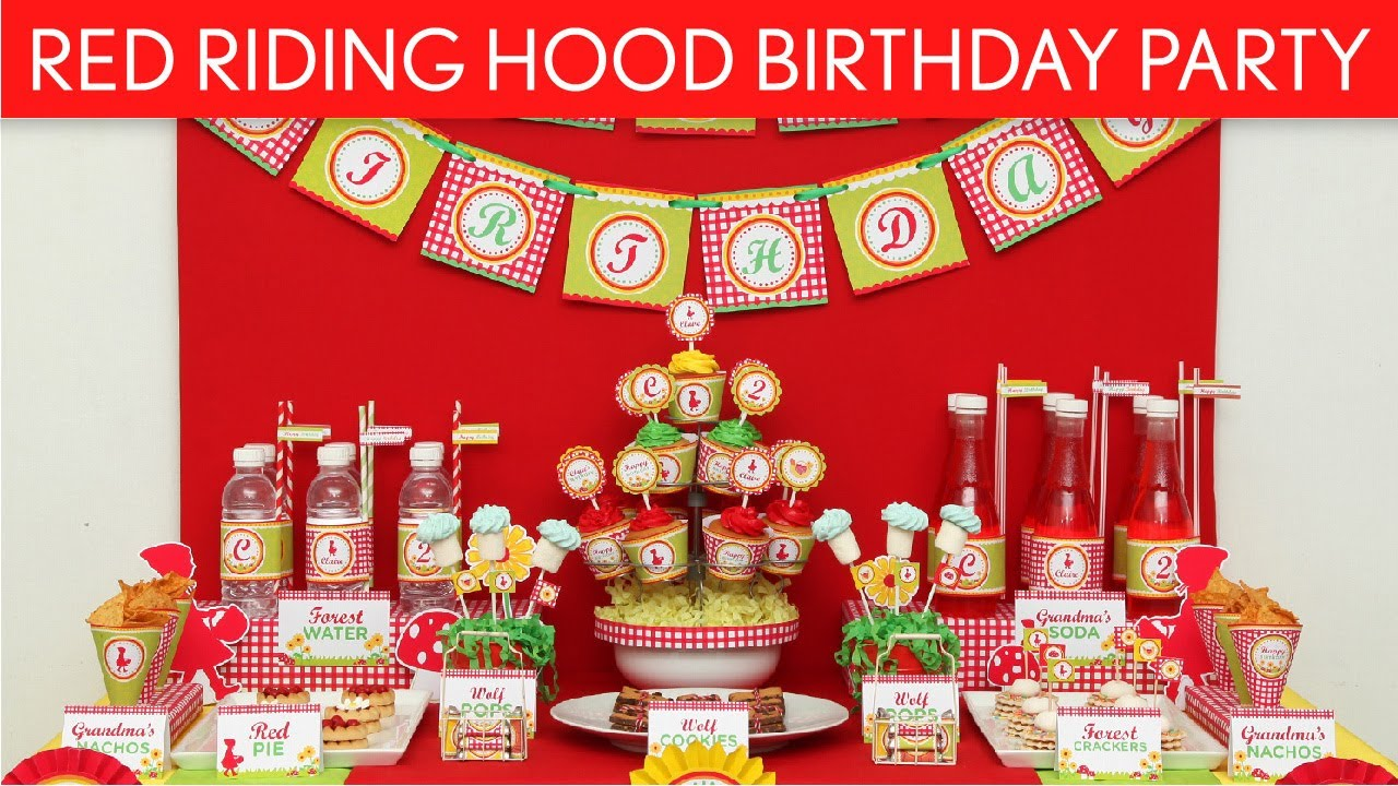 Little Red Riding Hood Cake Decorations