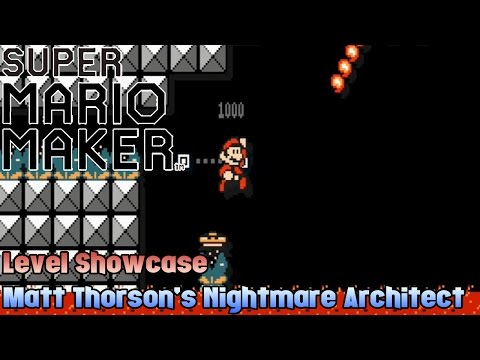 Super Mario Maker Level Showcase - Matt Thorson's Nightmare Architect