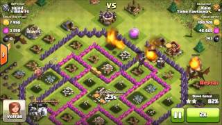 (Clash of Clans)Como atacar de Dragão utilizando Fúria ou Raio para dar um 100%