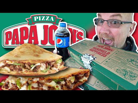 PAPA JOHN'S PAPADIAS 🍕 BBQ Chicken & Bacon Vs Philly Cheesesteak