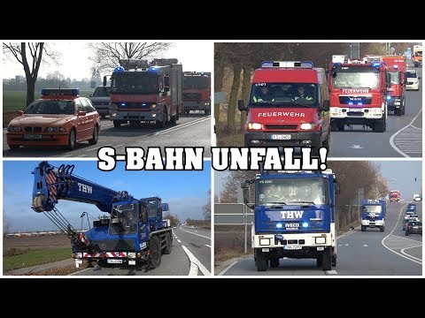 [TRAIN CRASH | CRANE RESPONSE!] - Responses to major emergency drill near Freising, Germany