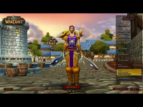 My Plans For Classic WoW - Race, Class and Gender Combinations