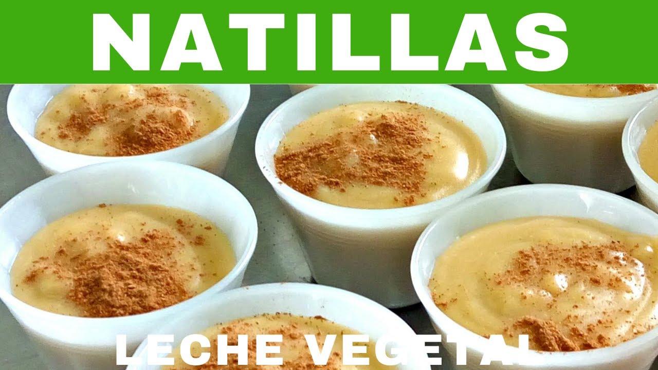 Natillas de leche vegetal.- RecetasdeLuzMa