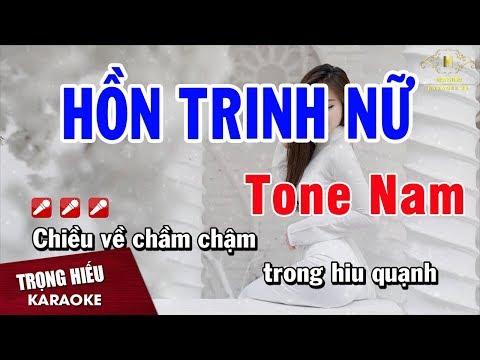 Karaoke Hồn Trinh Nữ Tone Nam Nhạc Sống   Trọng Hiếu