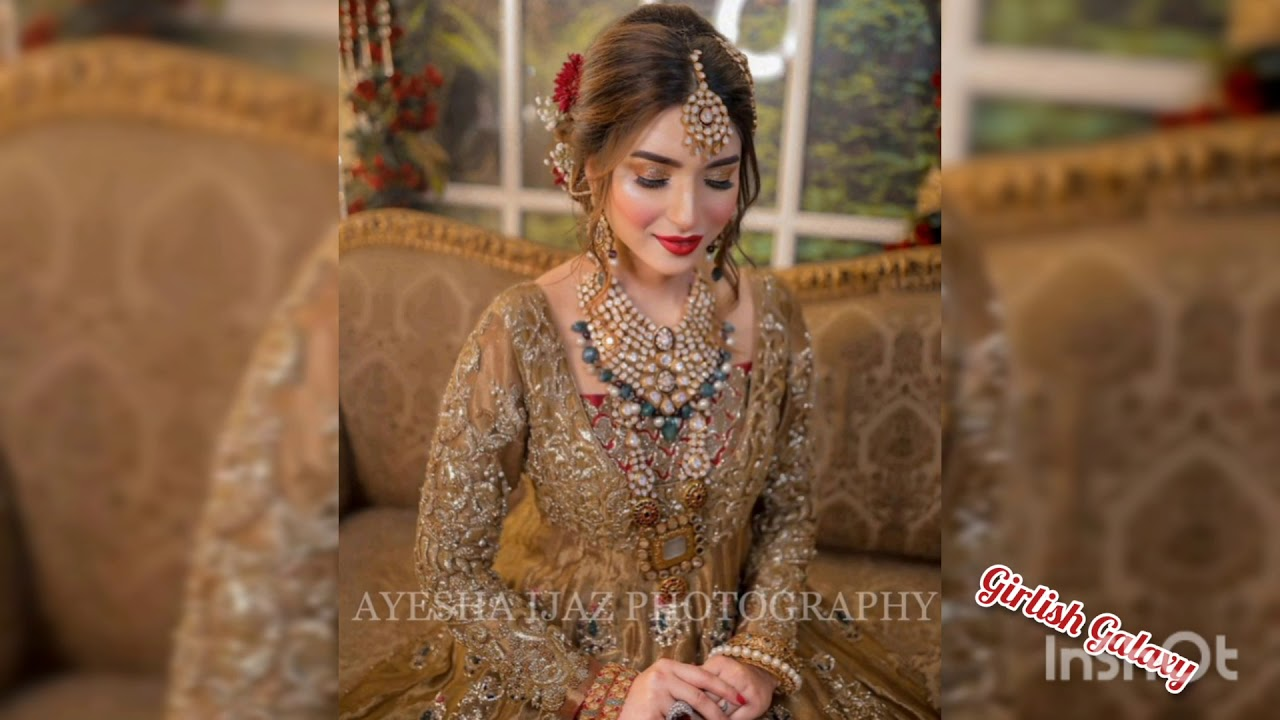 Download Latest Barat Bridal Dress Design 2021.Barat Bridal Look Makeup 2021.