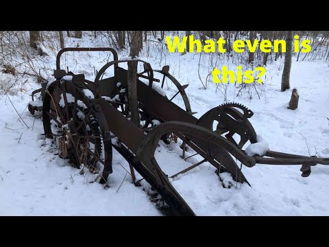 Abandoned Farming Equipment Early 1900's Nova Scotia