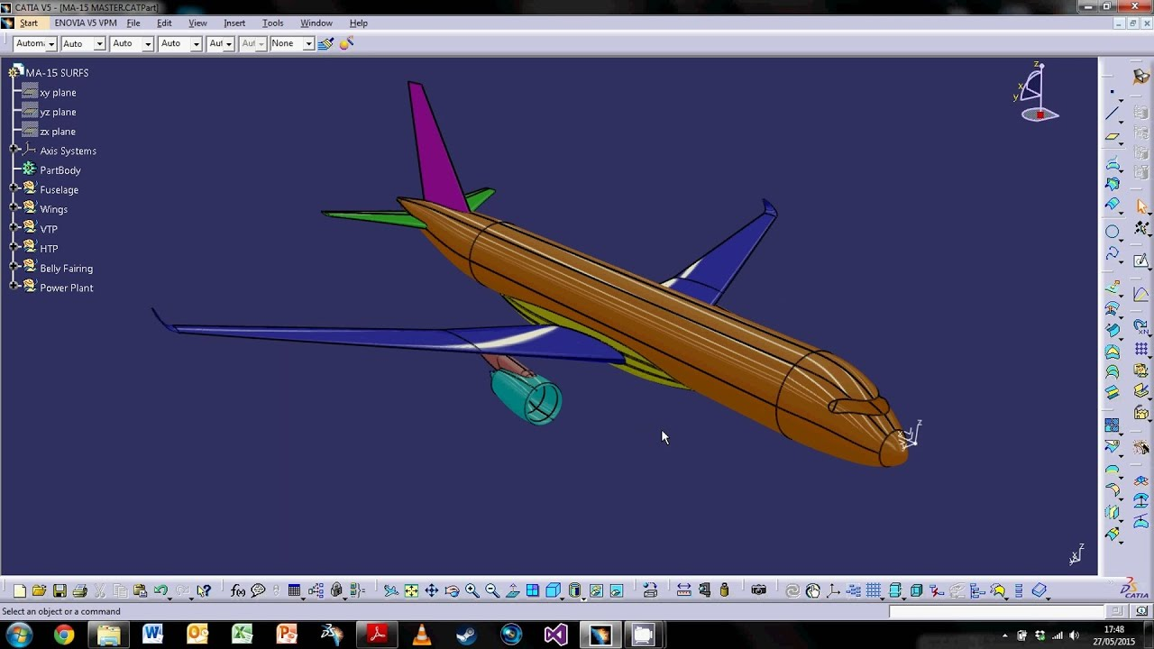 Catia V5 Aircraft Surfaces Design Part 1 Fuselage