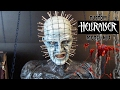 Pinhead figure and Hellraiser Puzzle box