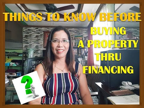 THINGS U MUST KNOW BEFORE BUYING A PROPERTY THRU HOUSING LOAN