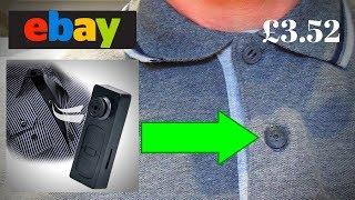 Wearable Hidden Button Pinhole Spy Camera  Ebay