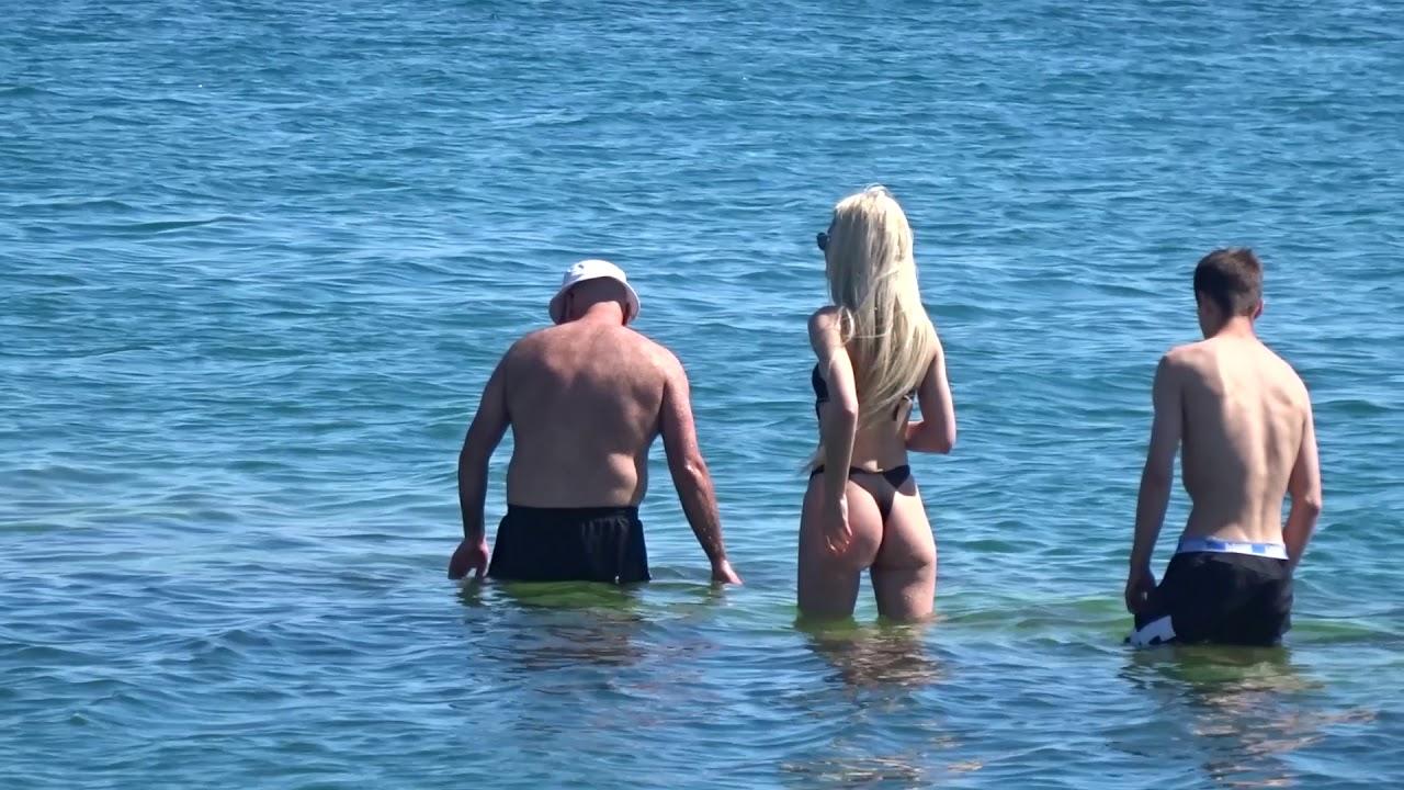 Сочи ПЛЯЖ. Европейски нравы дошли до Русских Девушек! Пляжный беспредел