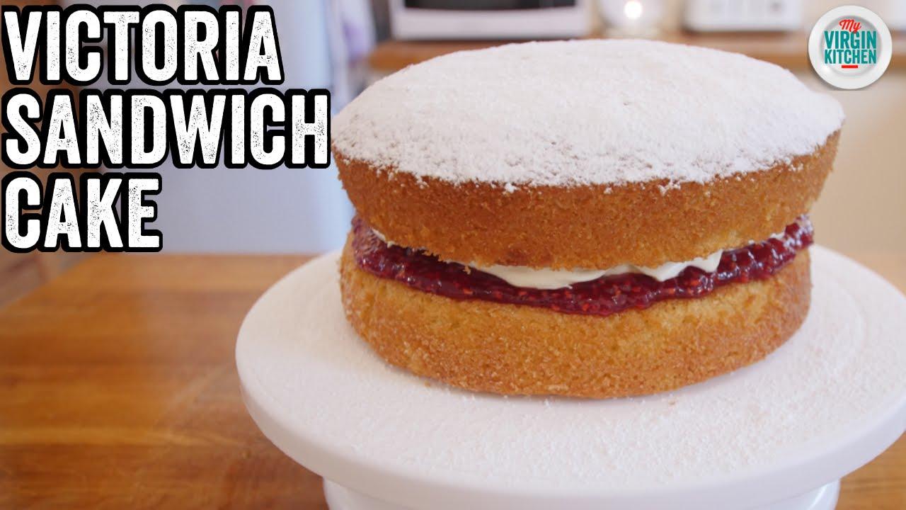 Easy Victoria Sandwich Cake Recipe Youtube