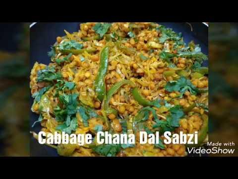 Cabbage Chana Dal Sabzi