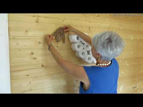 SHEEP-shelf - a wall shelf for storing toilet paper rolls (30 rolls).
