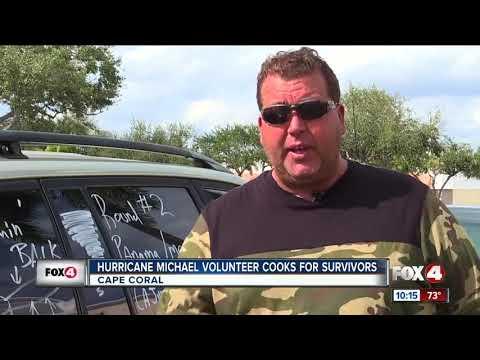 Hurricane Michael volunteer cooks for survivors