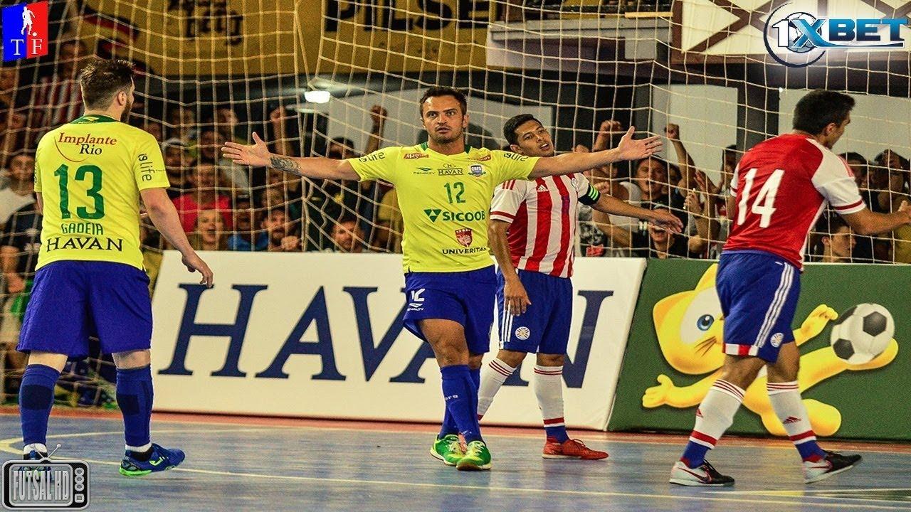 f4003f09916e1 Gols Brasil 8 x 3 Paraguai - Amistoso Internacional de Futsal 2018  (27 01 2018)