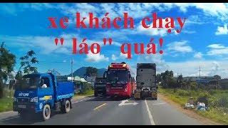 Chế Thân đi phụ xe - Tập 18 Leo đèo Bảo Lộc xe khách vượt ẩu thật là...