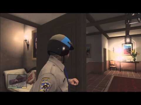 GTA 5: How to get the cop uniform BEAT THE FUCKING STORY