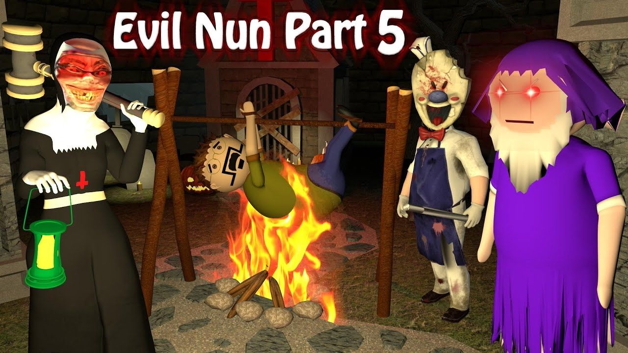 Evil Nun Horror Story Part 5 | Apk Android Games Story | Horror Movie In Hindi | Make Joke Horror
