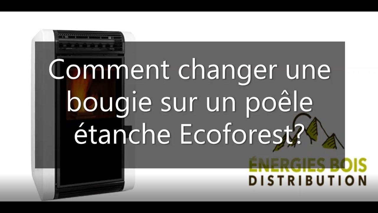 Comment changer une bougie sur un poêle à granulés étanche Ecoforest?