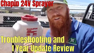 Troubleshooting and 1 Year Review Update Chapin 24 Volt Li-Ion Backpack Sprayer 4-Gallon
