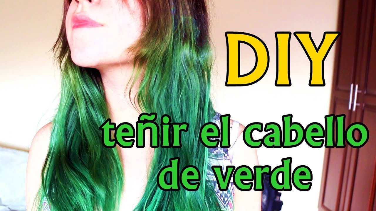 DIY: Decolorar/ pintar el cabello de verde [how to dye your hair ...