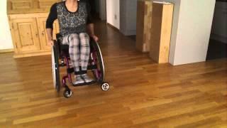 Paraplegic pretender wheelie