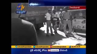 Road Accident In Vijayawada   Lorry hits Bike   1 Dead